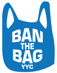 Ban the bag YYC - blue logo